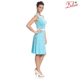 PUSSY DELUXE Candy Love Collar Dress Kleid hellblau
