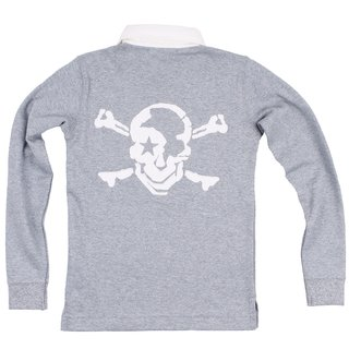 ROCK STAR BABY Kinder Langarm Polo Skull grau