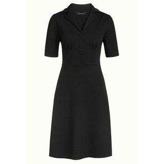 KING LOUIE Diner Dress Milano Crepe black