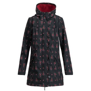 BLUTSGESCHWISTER Wild Weather Long Anorak red hood