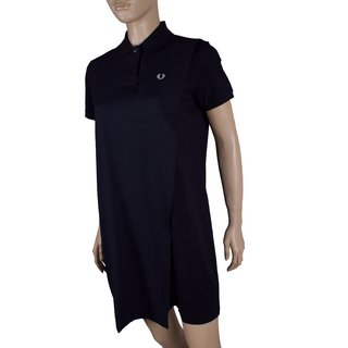FRED PERRY Overlay Pique Girl Polo Dress navy
