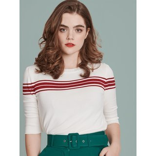MADEMOISELLE YéYé I Got Stripes Strick Top cream