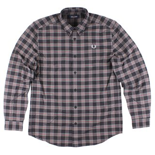 FRED PERRY Tartan Shirt charcoal