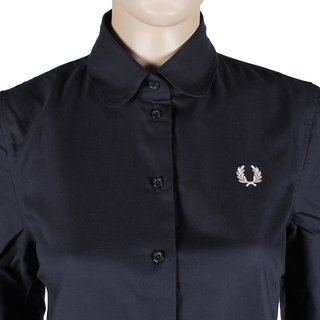 FRED PERRY Button Down Shirt Dress navy