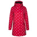 PUSSY DELUXE White Dots Softshell Damen Jacke red