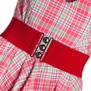 HELL BUNNY Retro Belt red