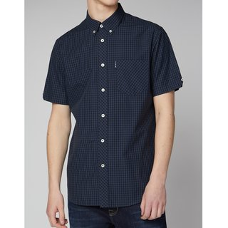 BEN SHERMAN SS Signature Cor Gingham blue grey