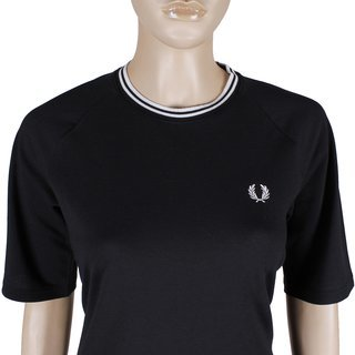 FRED PERRY Twin Tipped Pique Dress black/white