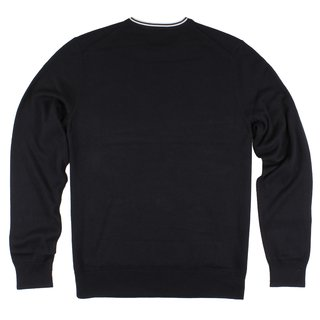FRED PERRY Classic Cotton Crew Neck Jumper black