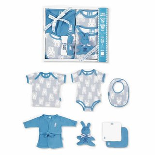 Blue Striped Bunnies Set