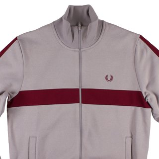 FRED PERRY Contrast Panel Track Jacket marl grey