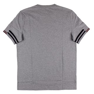 FRED PERRY Abstract Cuff T-Shirt steel marl