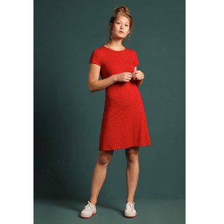 KING LOUIE Duffy Mini Dress Little Dots chili red
