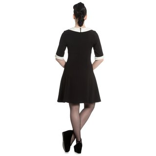 HELL BUNNY Magpie Mini Dress black