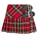 HELL BUNNY Chelsy Mini Skirt red