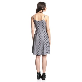 PUSSY DELUXE Kitty Cupcake Love Dress grey allover