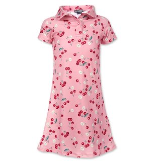 SIX BUNNIES Daisy Cherry Girl Dress pink
