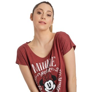 DISNEY Minnie Mouse Girl Loose Shirt rot-meliert