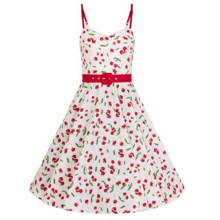 HELL BUNNY Sweetie 50s Dress white