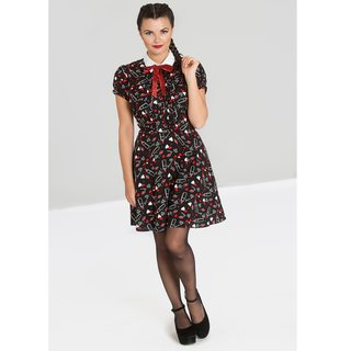 HELL BUNNY Bisous Mini Dress black