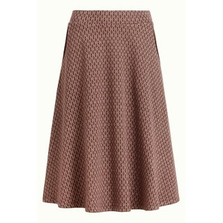 KING LOUIE Sofia Skirt Midi Conte grape red
