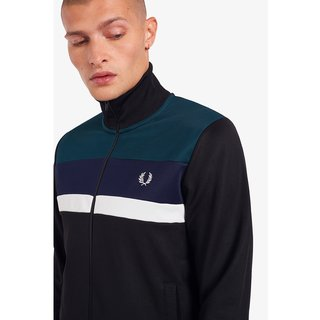 FRED PERRY Colour Block Track Jacket black
