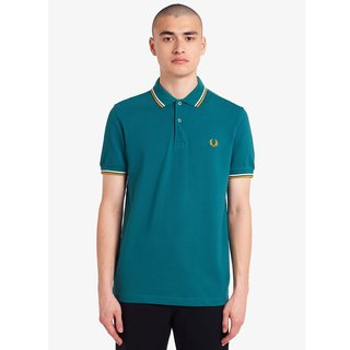 FRED PERRY Twin Tipped Polo Shirt light petrol