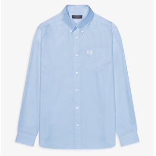 FRED PERRY Oxford Shirt light smoke