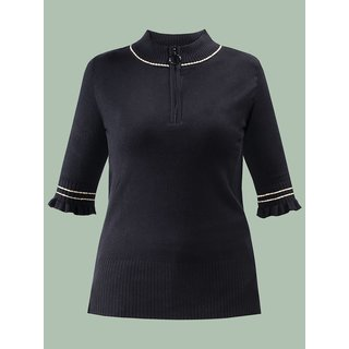 MADEMOISELLE YéYé Cool And Gorgeous Knit Top black