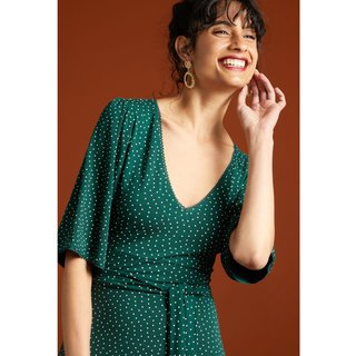 KING LOUIE Zita Dress Little Dots pine green