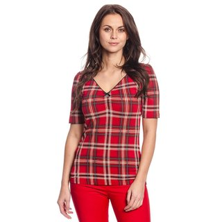 VIVE MARIA British Rebel Shirt red allover