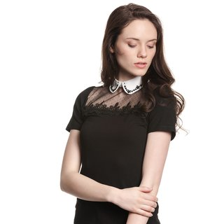 VIVE MARIA Colette In Love Women Lace Shirt black