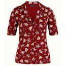 KING LOUIE Patty Blouse Ventura ribbon red