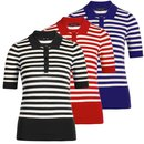 KING LOUIE Polo Top Classic Stripe