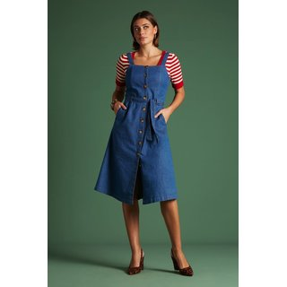 KING LOUIE Ines Dress Chambray river blue