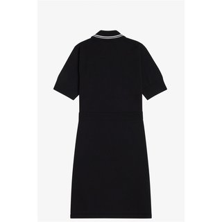FRED PERRY V-Insert Knitted Dress black