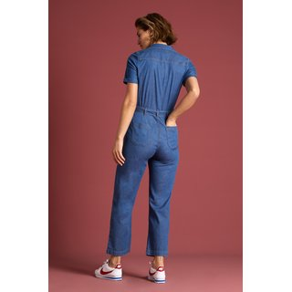 KING LOUIE Gracie Jumpsuit Chambray river blue