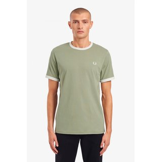 FRED PERRY Ringer T-Shirt seagrass