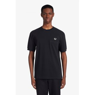 FRED PERRY Pocket Detail Piqué T-Shirt black