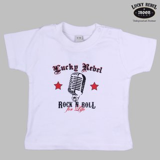 Lucky Rebel Kids T-Shirt Rock n Roll white