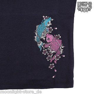 LUCKY 13 Kids Shirt Koi black